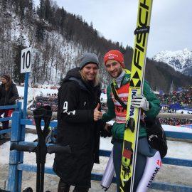 FIS Weltcup Skifliegen in Oberstdorf auf der Heini Klopfer Ski Schanze